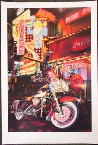 Gucwa KING & I Motorcycle Art LE Mixed Media Print