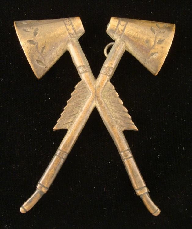 Indian Wars Native American Tomahawk US Uniform Badge