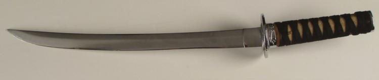 JAPANESE SAMURAI SWORD WAKIZASHI, 14 1/4  BLADE