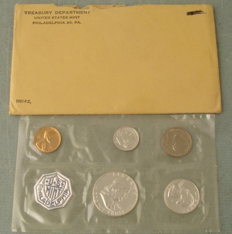 1961 US Silver Proof Set in Orig Mint Envelope, Sealed