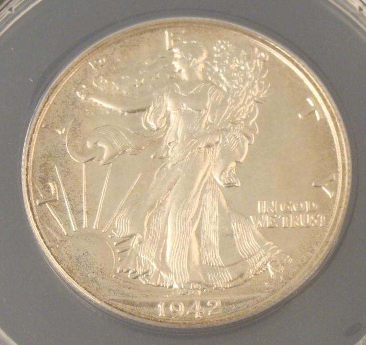 1942 Walking Liberty Proof Half Dollar PF64 ANACS -Rare