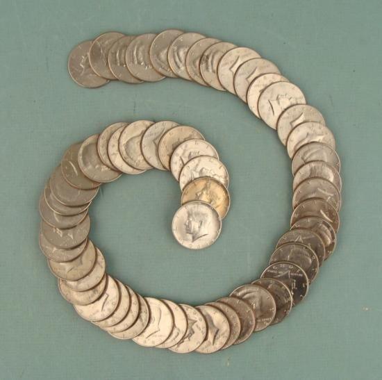 58 Diff Kennedy Halves 1964-2001, 6 Silver