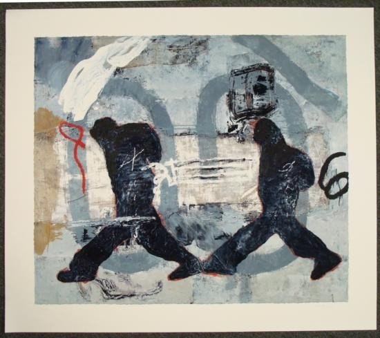 """Zhou Brothers Giclee Abstract Art Print """"Travel Europe"""""""