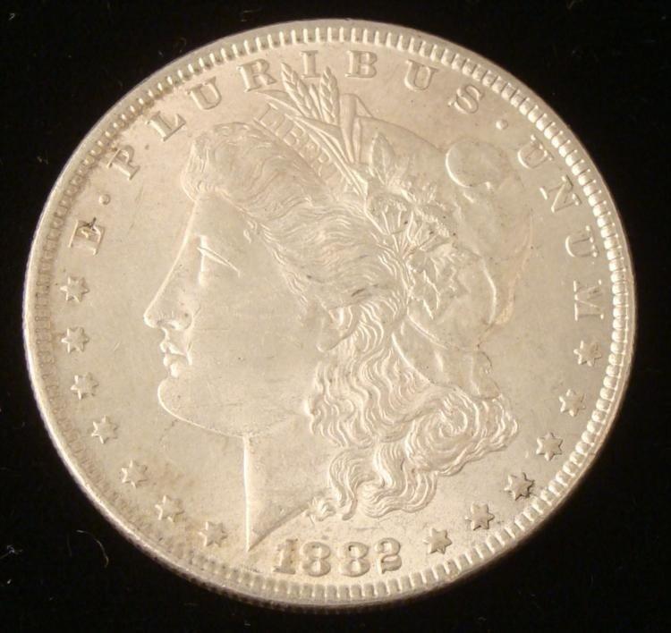 High Grade 1882 Morgan Silver Dollar -Luster