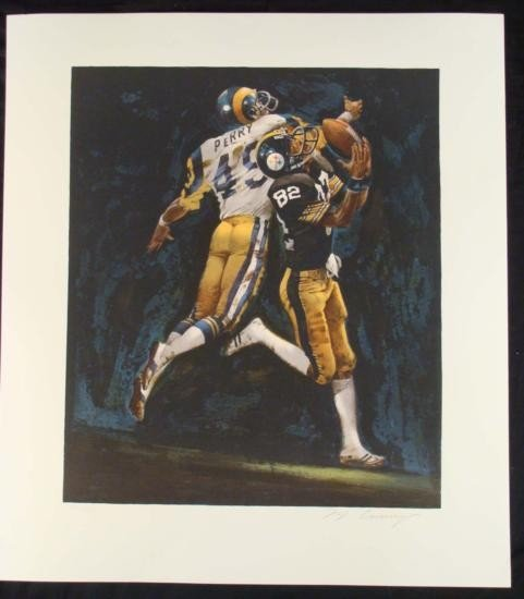 Merv Corning S/N Print Steelers Stallworth Super Bowl