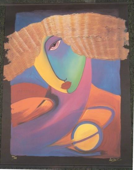 "Lunzen Signed Print ""Symai Creative Spirit"" Art"