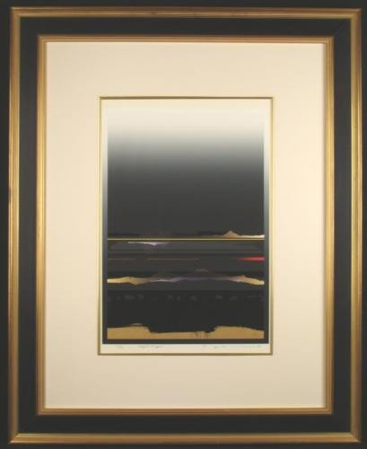 Signed LE TETSURO SAWADA ART PRINT Nightscape Framed