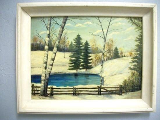 Antique Landscape Oil Signed - Paul King
