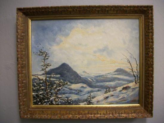 Antique Winter Landscape Signed - E W Redfield