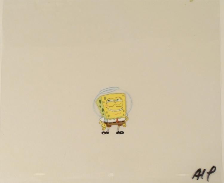 Production Original Cel It Was Nothing Spongebob Art
