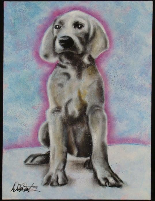Duerrstein Original Dog Painting Young Labrador