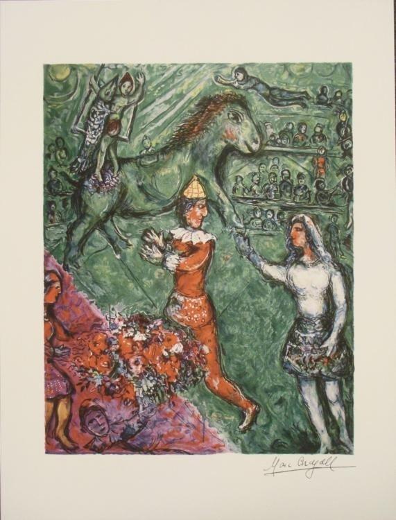 Marc Chagall : Le Cirque Vert Circus Art Print