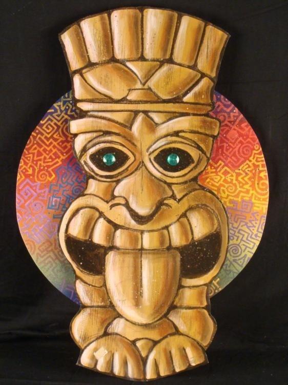 Duerrstein Original Tiki Statue Hand Painted Wall Art