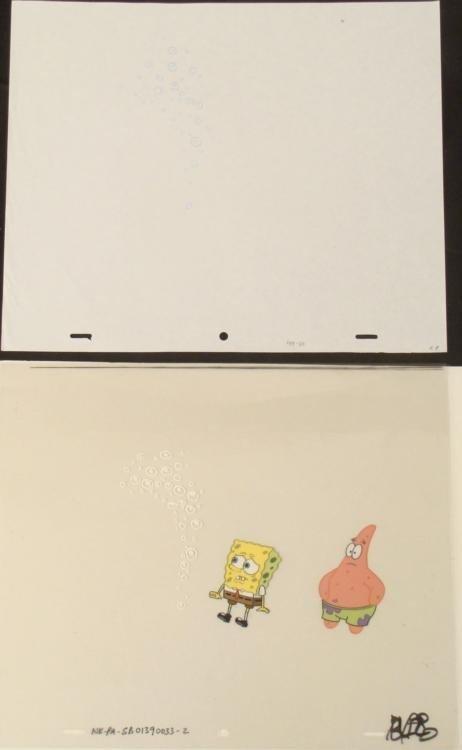 Drawing Cel Original Spongebob Bubbles Animation Art