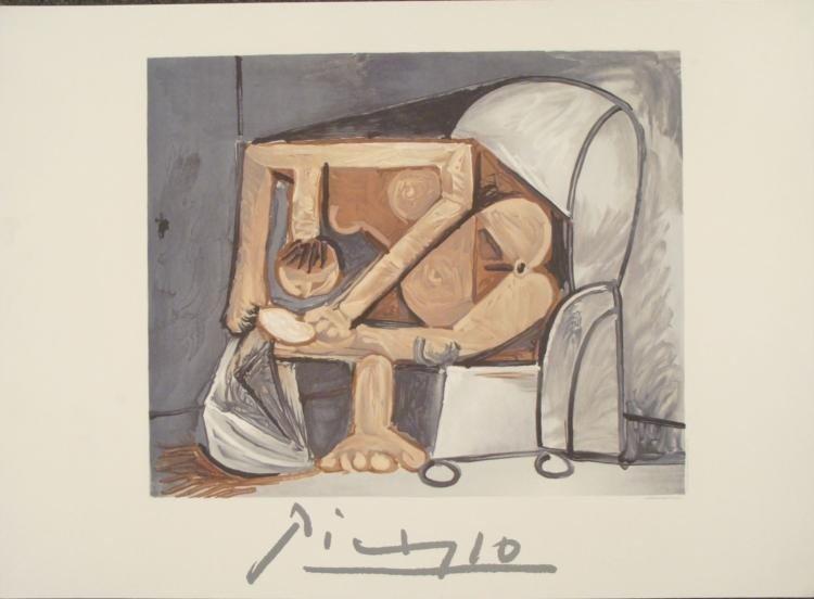 Pablo Picasso : Femme a la Toilette Art Print