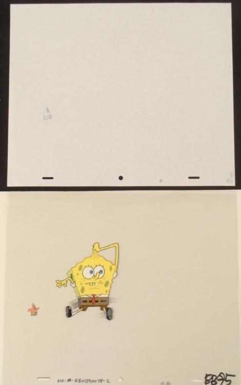 Drawing Production Contortion Spongebob Original Cel