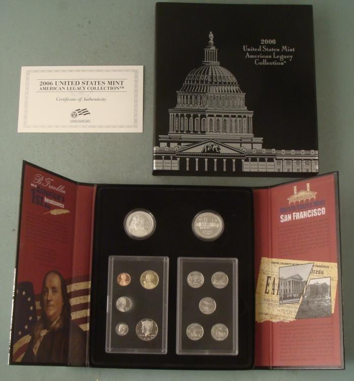 2006 US Mint American Legacy Proof Set in Box w/ COA