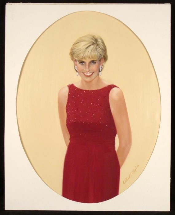 William Chambers Original Princess Diana Painting Art