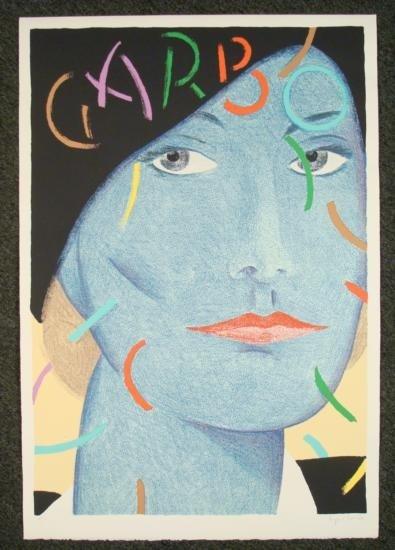 Seymour Chwast Signed Print Greta Garbo Hollywood Art