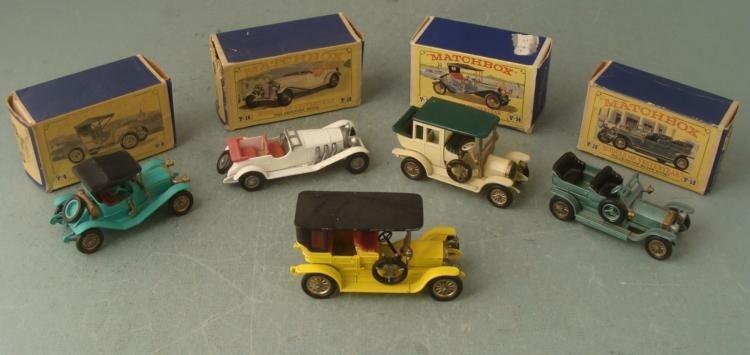5 Matchbox Models of Yesteryear Cars Y-4, Y10, Y-15 MIB