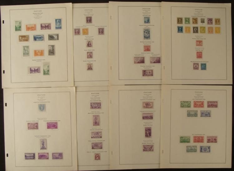 66 US Postage stamps 1932-1937 MINT