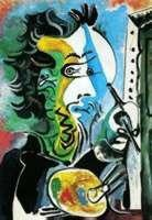 The Artist by Picasso Numbered Giclee 20x26 On Canvas