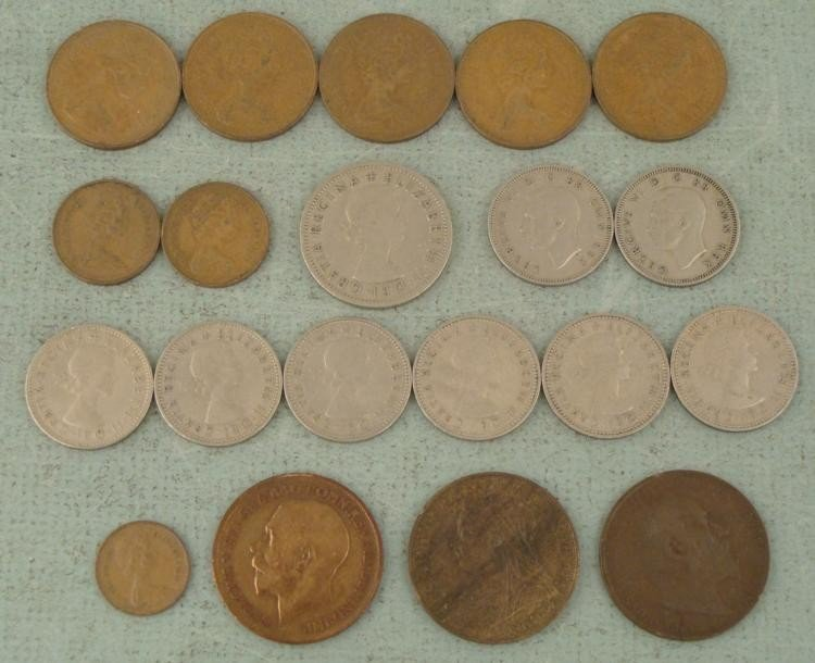 20 Great Britain Coins Shilling, New Pence 1900-1962 - 2