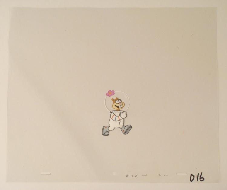Walking Squirrel Animation Original SpongeBob Cel Art