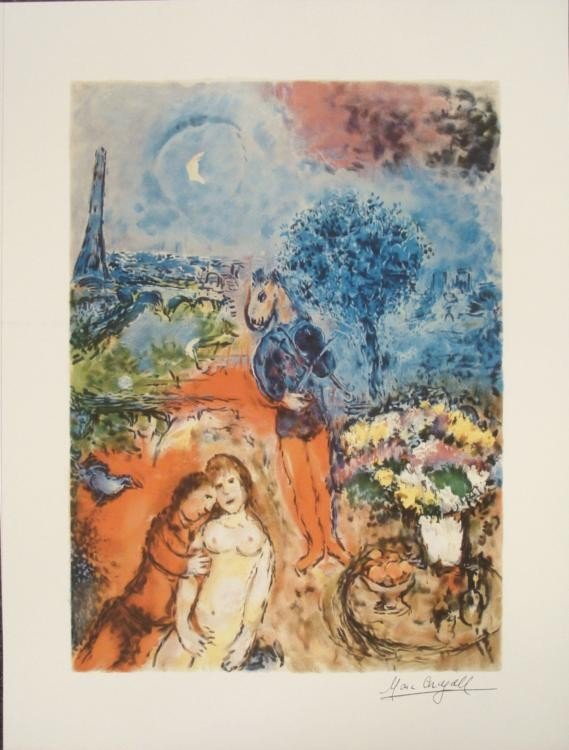 Marc Chagall : Serenade Seductive Nude Art Print