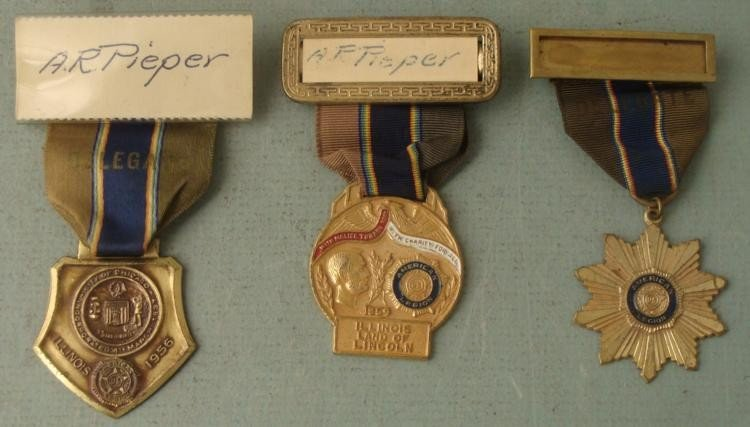 1950-1954-1956 AMERICAN LEGION LT COMMANDERS BADGES