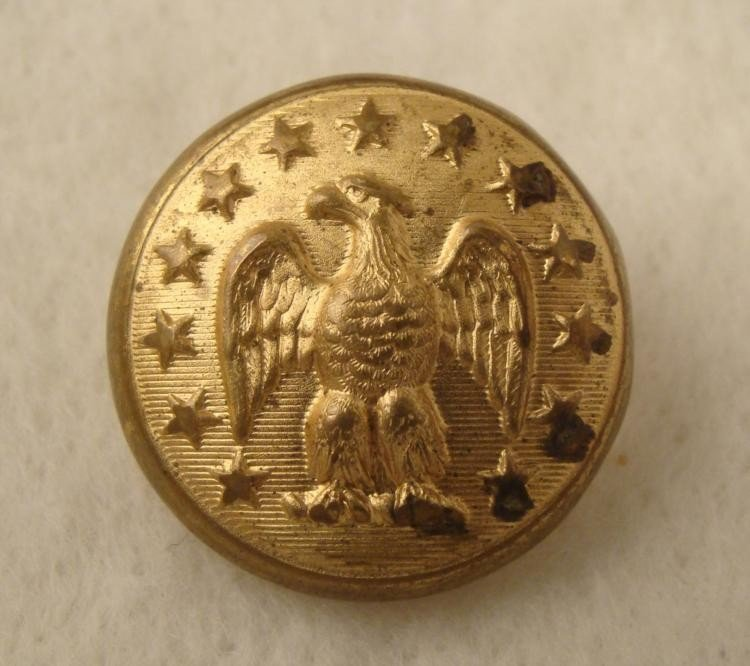 20th Century U.S. Eagle Gilt Coat Button 13 Stars