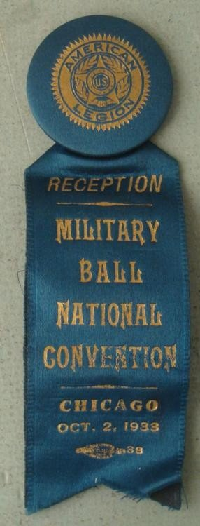 1933 AMERICAN LEGION NATL CONV MILITARY BALL CHICAGO