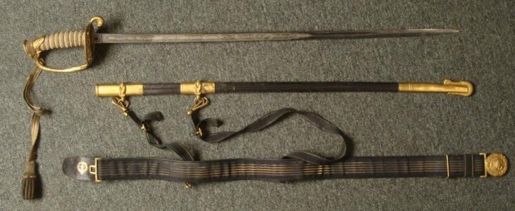 MODEL 1852 EARLY 1900'S NAVAL OFFICERS SWORD
