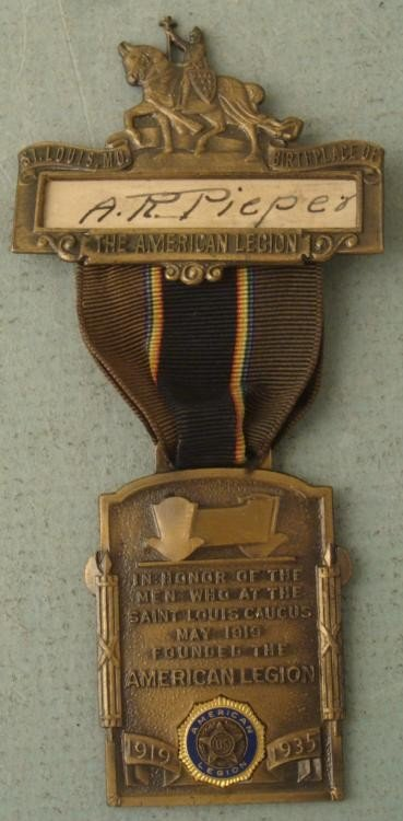 1935 ORNATE LT COMMANDER AMERICAN LEGION MEDAL
