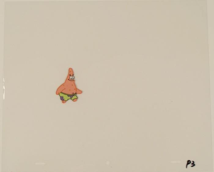 Looking Straight Original Cel SpongeBob Animation Art