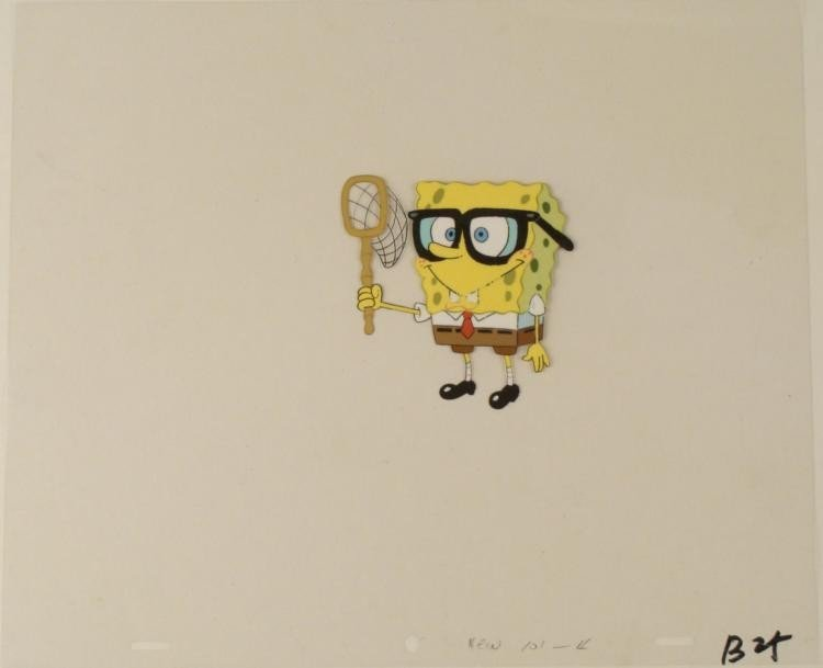 Original Ready As Can Be Production Spongebob Cel Art