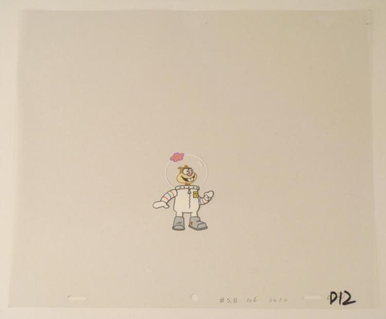 Friendly Animation Sandy Original Art Cel SpongeBob