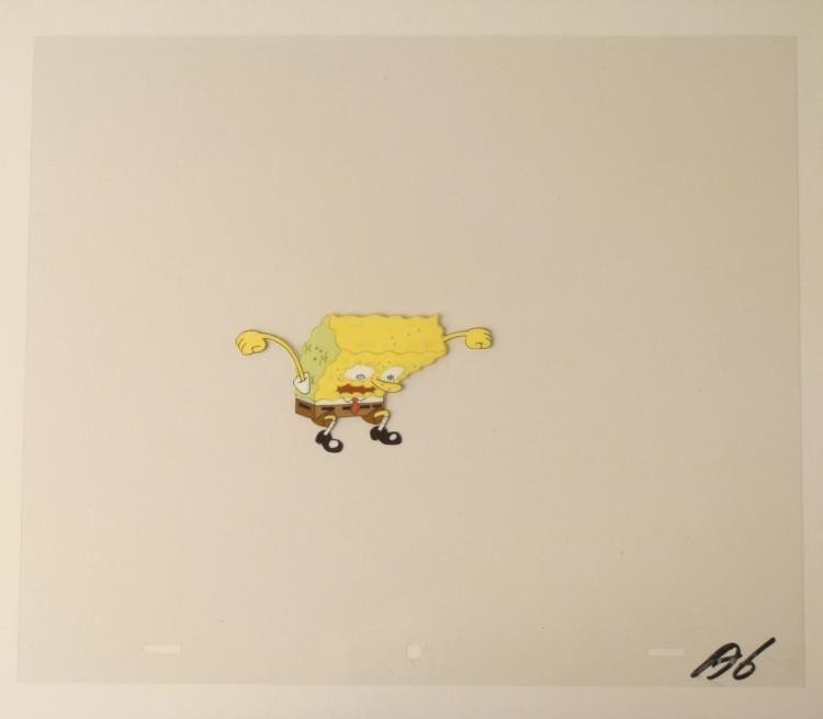 Treedome Original Production Art Cel SpongeBob Water