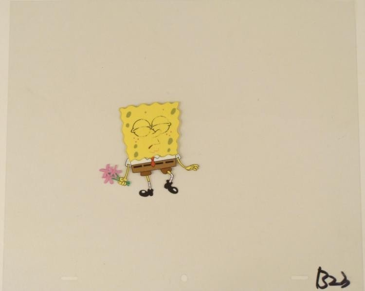 Production Think Invisibility Cel Original Spongebob