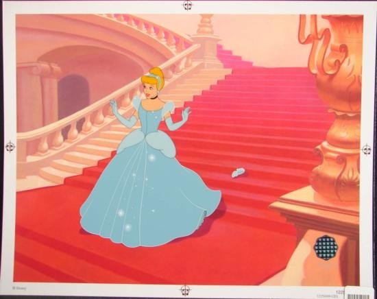 CINDERELLA Disney Animation Limited Edition Sericel Art
