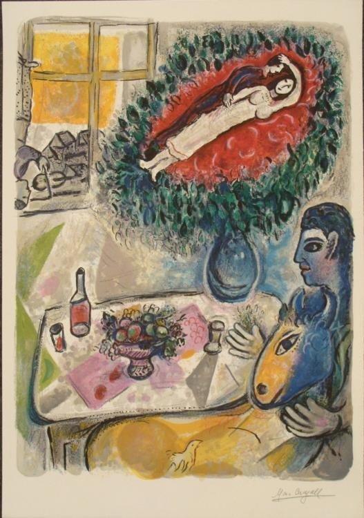 Marc Chagall: Reverie Art Print Ed. 2000