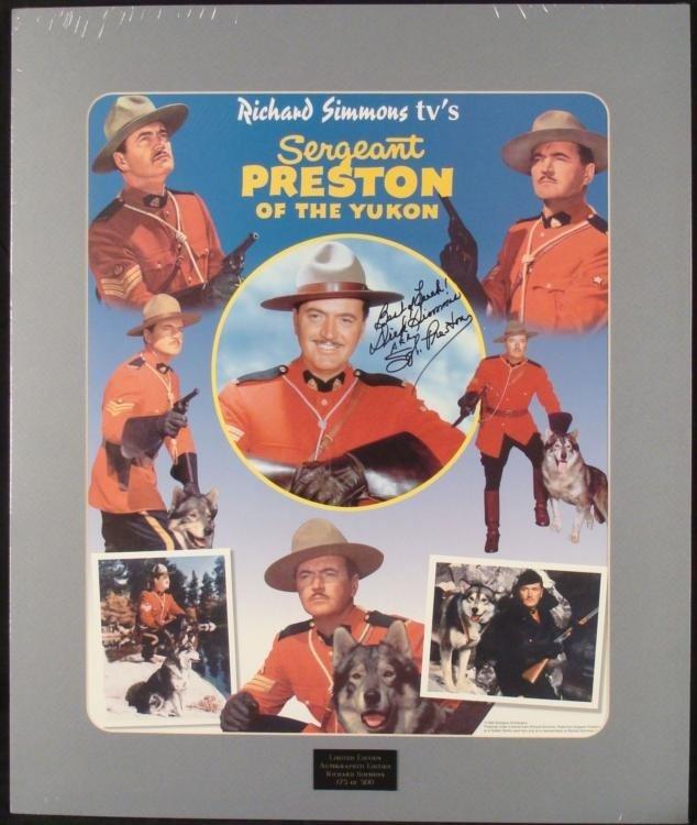 Dick Simmons Signed Sergeant Preston Yukon Poster Ltd