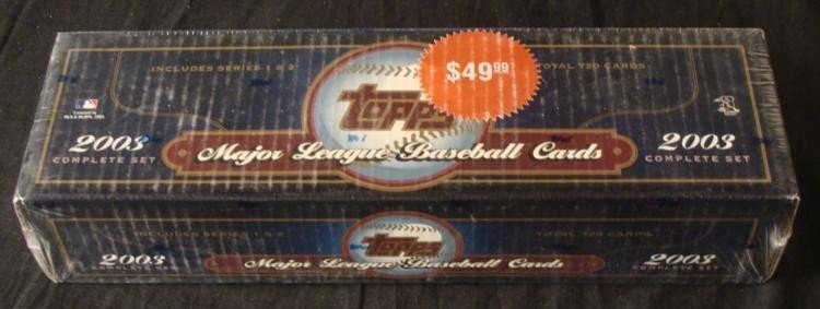 Complete Sealed Set of 720 2003 Topps Baseball Cards