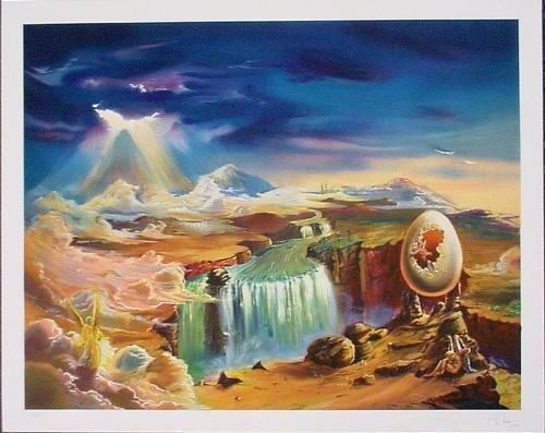 Wild Weird Surreal Signed Fine Art Print THE BIRTH