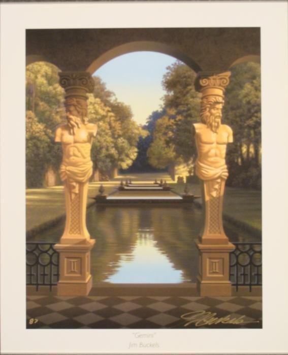 Jim Buckels Gemini Signed Zodiac Art Print