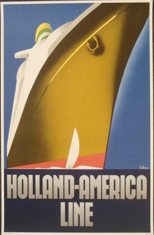 Willem Ten Broek Holland America Line Poster Art Print