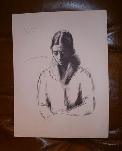 OLGA was Picasso's Wife B&W Lithograph Numbered