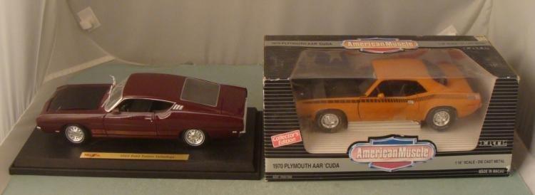 1970 Plymouth AAR 'Cuda & 1969 Ford Torino Talladega