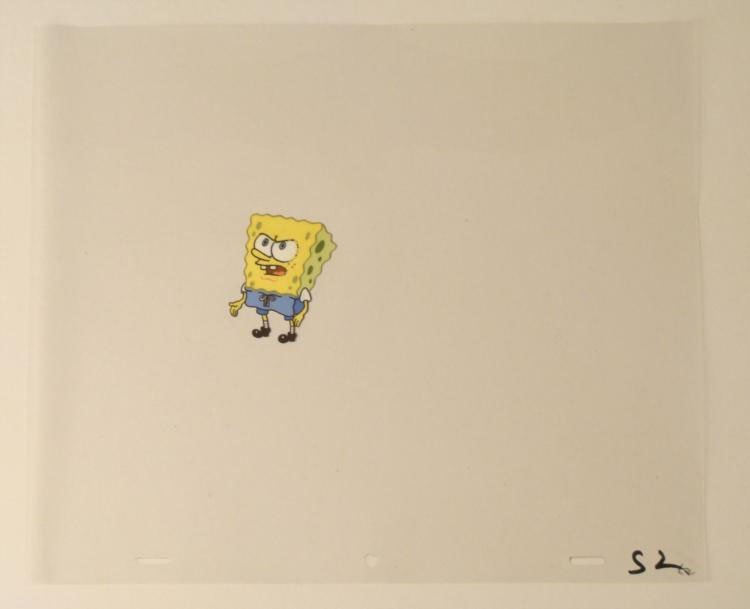 SpongeBob Angry Face Original Production Art Cel Eyes