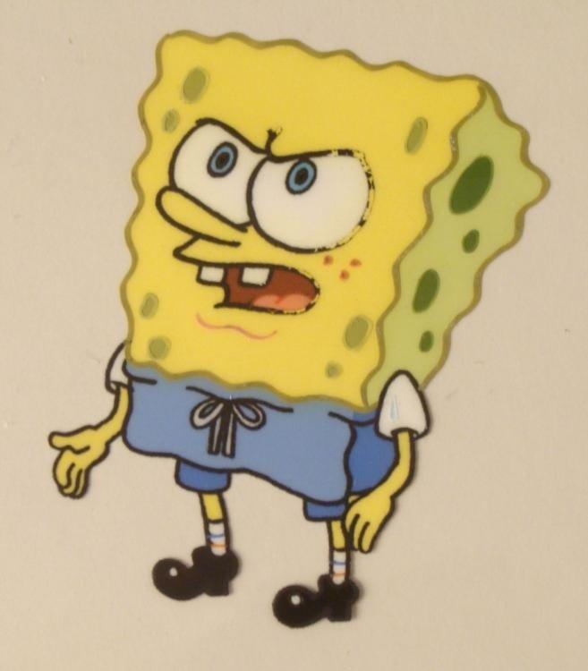 SpongeBob Angry Face Original Production Art Cel Eyes - 2